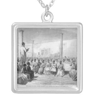 Zion School for Colored Children Silver Plated Necklace
