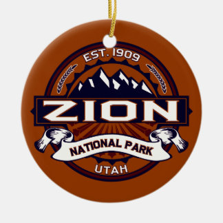 Zion Vibrant Christmas Ornament