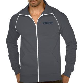 Zip Front Fleece Printed Jacket