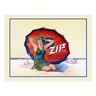 Zip Hair Remover Vintage 1924 Retro  Ad Postcard