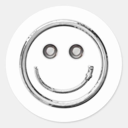 Zip It - Smiley (curve) Stickers