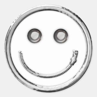 Zip It - Smiley (curve) Sticker