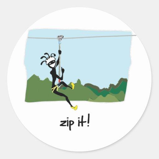 """""""Zip It!"""" Stickers"""