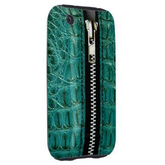 Zip It Up Alligator hard plastic (turquoise) Tough iPhone 3 Cover
