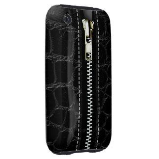 Zip It Up Crocodile hard plastic (black) iPhone 3 Tough Cases
