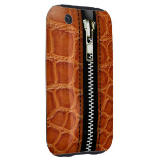 Zip It Up Crocodile hard plastic (caramel) iPhone 3 Tough Cover