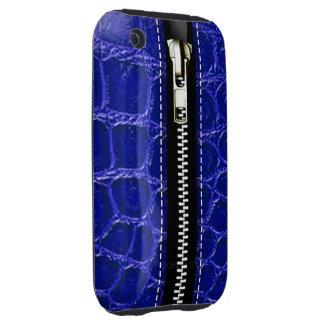 Zip It Up Crocodile hard plastic (indigo) iPhone 3 Tough Covers