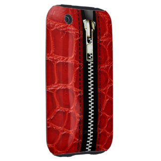 Zip It Up Crocodile hard plastic (red) Tough iPhone 3 Covers