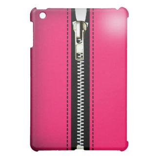 Zip It Up Funky iPad Skin (hot pink) iPad Mini Covers