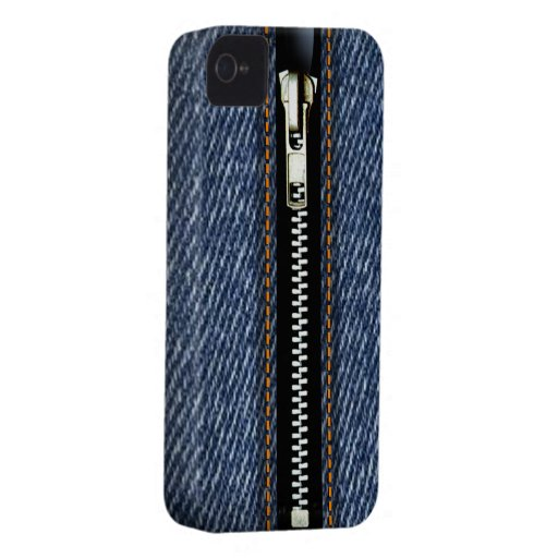 Zip It Up Surreal Blue Jeans hard plastic (denim) Blackberry Bold Cover