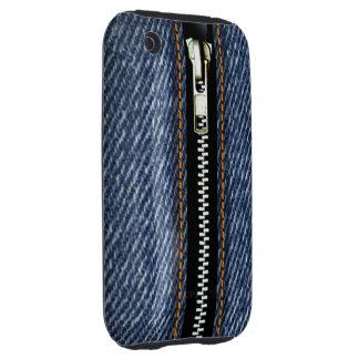 Zip It Up Surreal Blue Jeans hard plastic (denim) iPhone 3 Tough Cases