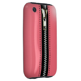 Zip It Up Surreal hard plastic (baby pink) iPhone 3 Tough Case