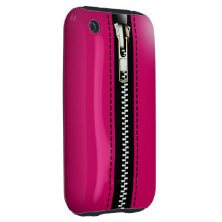 Zip It Up Surreal hard plastic fuschia iPhone 3 Tough Covers