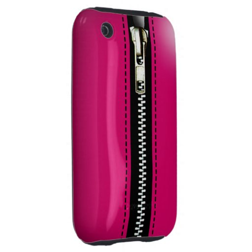 Zip It Up Surreal hard plastic (fuschia) iPhone 3 Tough Covers