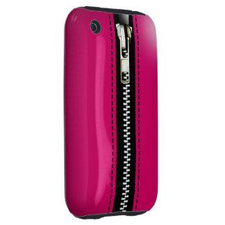 Zip It Up Surreal hard plastic (fuschia) Tough iPhone 3 Covers