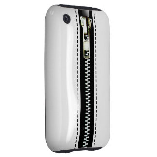 Zip It Up Surreal hard plastic (white) Tough iPhone 3 Covers