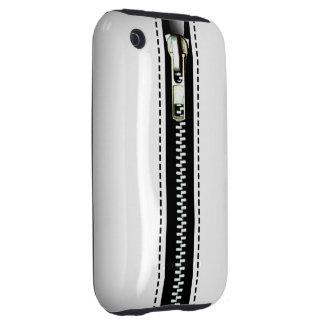 Zip It Up Surreal hard plastic (white) iPhone 3 Tough Case