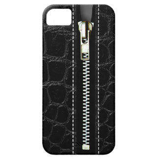 Zip It Up - Trompe L Oeil black crocodile iPhone 5 Covers