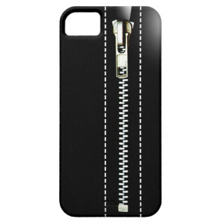 Zip It Up - Trompe L'Oeil black iPhone 5 Covers