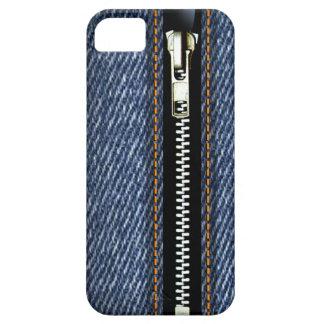 Zip It Up - Trompe L'Oeil blue denim iPhone 5 Covers