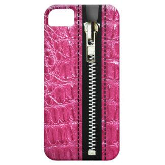 Zip It Up - Trompe L'Oeil fuschia alligator iPhone 5 Covers