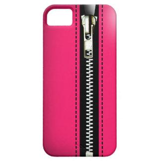 Zip It Up - Trompe L'Oeil hot pink iPhone 5 Case