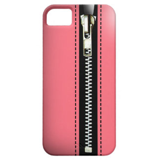Zip It Up - Trompe L'Oeil pink iPhone 5 Cases