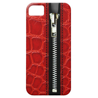 Zip It Up - Trompe L'Oeil red crocodile iPhone 5 Cases