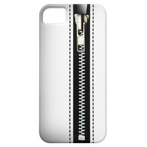 Zip It Up - Trompe L'Oeil white iPhone 5 Covers