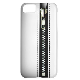Zip It Up - Trompe L'Oeil white Cover For iPhone 5C