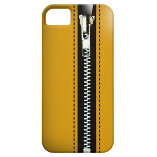 Zip It Up - Trompe L'Oeil yellow iPhone 5 Cover