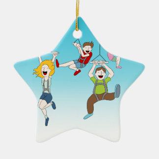 Zip Line Riders Christmas Ornament