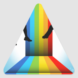 Zip Line Riders Triangle Sticker