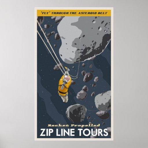 Zip Line Tours through the asteroid belt Print