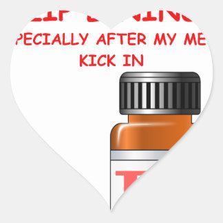 zip lining heart sticker