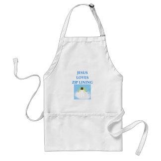 zip lining standard apron