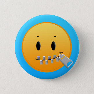 Zip Your Lips pin