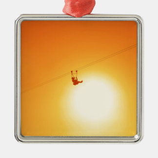 zipline christmas ornament