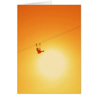 zipline greeting card