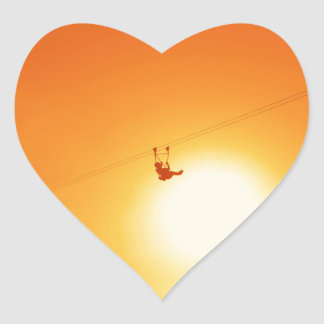 zipline heart sticker