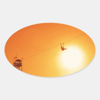 zipline oval sticker