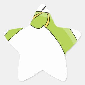 Zipline Rider Stick Figure Icon Star Sticker
