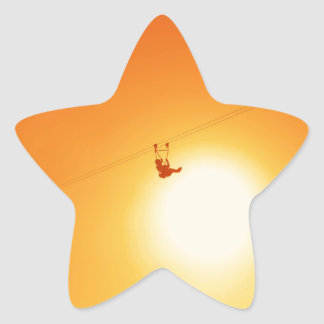 zipline star sticker