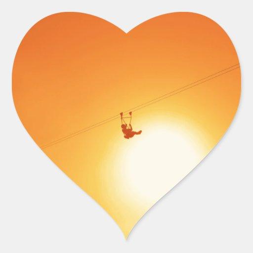 zipline heart stickers