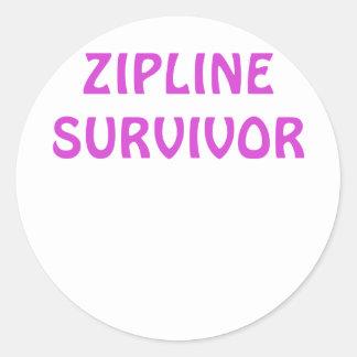 Zipline Survivor Round Sticker