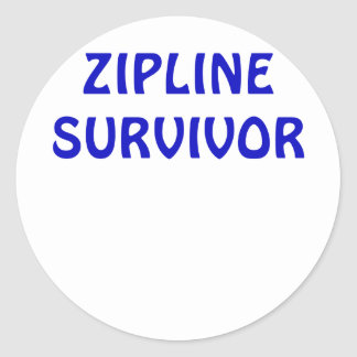 Zipline Survivor Round Sticker