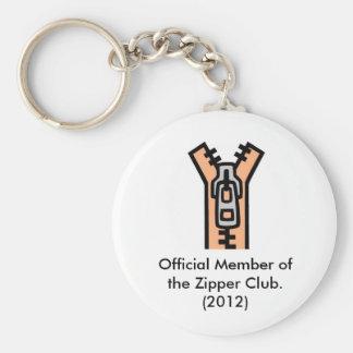 Zipper Club Key Ring