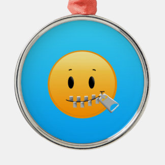 Zipper Emoji Christmas Ornament