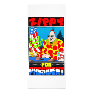 Zippy For President! Personalized Rack Card