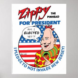 Zippy For President Poster